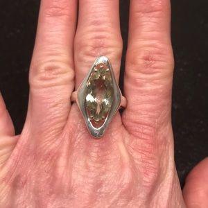 Pretty Marquise Green Amethyst ring
